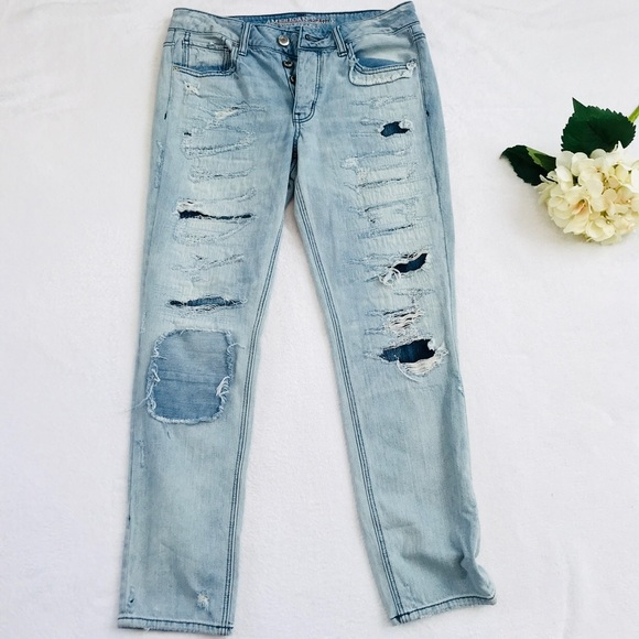 3f9e7dbf01c American Eagle Outfitters Denim - AEO Destroyed Tomgirl Jean Light Wash  Button Fly